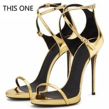 Women Sandals Sexy High Heels Women Pumps 2018 Women Shoes Gold Summer Sandals  Heels Ladies Shoes 043c3425878