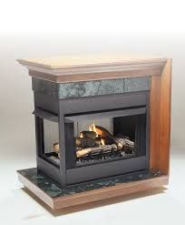 Kingsman MVF40 Zero Clearance Universal Vent Free Bay Peninsula Fireplace Corner Fireplace, Peninsula, Fireplace Logs, Tiny House Floor Plans, House Floor Plans, Ventless Natural Gas Fireplace, Gas Fireplace, Fireplace, Fireplace Hearth