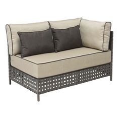 Zuo Pinery Long Left Corner Beige Chaise