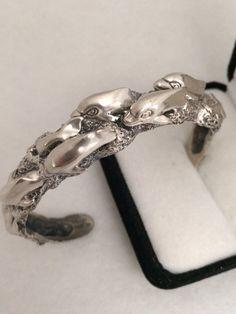Stunning Dolphin Heavy Stering Silver 925 Cuff by HauteCoutureLaLa
