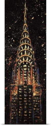 Wellington Studio Poster Print Wall Art Print entitled Cities at Night II, None