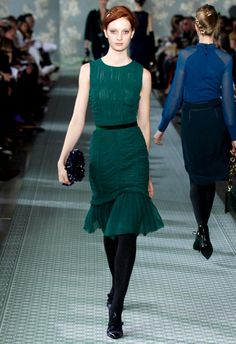 The color, the cut, the sheer detail and rouching. I love everything about this Tory Burch.
