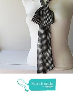Black Wite Skinny Scarf, Houndstooth Fabric Scarf, Chiffon Scarf, Long Thin Scarf with Angled Ends, Neck Tie, Headband, Fashion Accessories from NaryaBoutique https://www.amazon.com/dp/B01LWLWGAS/ref=hnd_sw_r_pi_dp_kdW5xbKTJQ57S #handmadeatamazon
