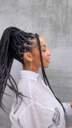 Feed In Braids Hairstyles, Black Girl Braided Hairstyles, African Hairstyles, Scarf Hairstyles, Protective Hairstyles, Hair Wrap Scarf, Hair Scarf Styles, Braid Styles, Curly Hair Styles