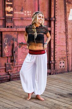 Aladdin Pants (silk rayon harem yoga zen lotus hammer buddha ganesh thailand asia jinny baggy flow comfortable)