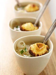 Gratinierte Rote-Zwiebel-Suppe