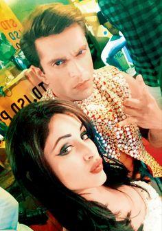 Karan Singh Grover and Priya Banerjee on the sets of their film '3 Dev'. #Bollywood #Fashion #Style #Beauty #Hot #Sexy