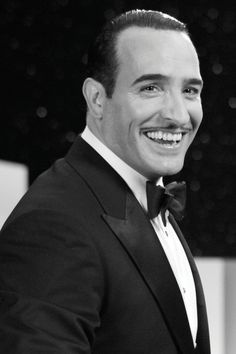 Best Actor, Jean Dujardin as George Valentin in The Artist. Award-winning smile!