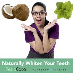 100% Natural, organic Teeth Whitener from Perla Coco improves the health of your smile with reinvented oil pulling method. Featured in the Pampered Teacher box