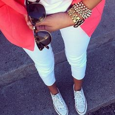 Arm candy and converse