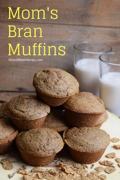 Moms Bran Muffins - a muffin lovers dream! Moms Bran Muffins - a muffin lovers dream! Delicious healthy kid and picky-eater approved and friendly help for regularity. Healthy Muffin Recipes, Donut Recipes, Breakfast Recipes, Healthy Moms, Eat Healthy, Bran Muffins, Baking Muffins, All Bran, Homemade Donuts