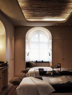 Treatment Room, Nordic Spa, Grand Hotel Stockholm www.grandhotel.se/ www.sadlerandco.com