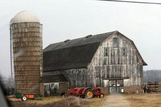 Barnyard Landscape Print Barn Farm Scenic by DeMintGallery