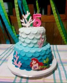 Bolo Pequena Sereia #cake #fondant #PequenaSereia