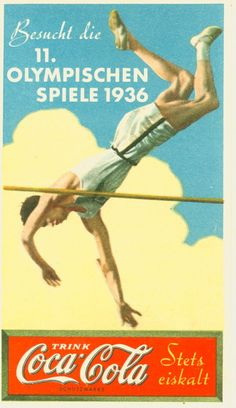 German Coca~Cola ad for 1936 Olympics
