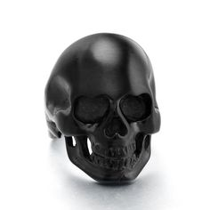 High Polished Black Vintage Stainless Steel Skull Rings for Men Size 7 - 13 - Jewelry For Her Skull Jewelry, Skull Rings, Men's Jewelry, Bling Jewelry, Handmade Jewelry, Fashion Jewelry, Stainless Steel Jewelry, 316l Stainless Steel, Crane