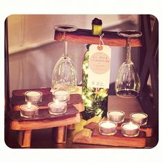 Local designer #winebarrel available at #brickandmortarliving  / #tealights #staves