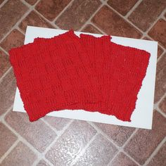 100 Cotton Dish Cloth with knit in a woven by Susansweaters, $5.50