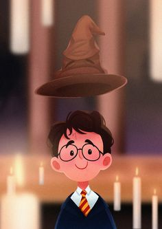 Harry was sorted into Gryffindor 20 years ago!!! By Wendy Tan SW Art