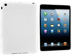 """Amazon.com: Fancy White {Simple Matte Plain} Soft and Smooth Silicone Cute 3D Fitted Bumper Back Cover Gel Case for iPad Mini 1, 2 and 3 by Apple """"Durable and Slim Flexible Fashion Cover with Amazing Design"""": Computers & Accessories"""