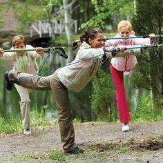 Nordic pole dancing?!