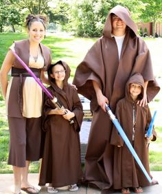 Family Jedi Costumes by DimplePrints