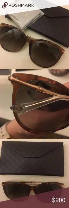 Brand New Gucci Sunglasses Brand new Gucci sunglasses. Never been worn. Comes with unused Gucci case and cloth (as shown in pictures) Gucci Accessories Sunglasses