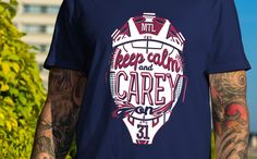 """""""Keep Calm and Carey On"""" tees back in stock at www.Northlegends.ca"""