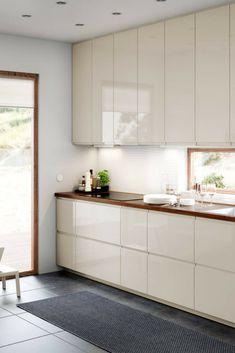 Hochglanz Küche, magnolia, hell, weiß, Idee, Bild, Küchenfarbe, glänzende Fronten