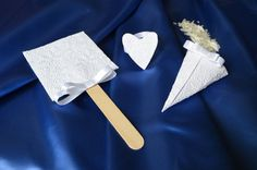 Winter wedding kit. 50 paper fan 50 paper di BibliothecaSelecta