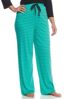 e0662936bb7 New Directions® Plus Size Striped Knit Pants