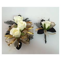 Single Rose Ladies Boutonniere Corsage ❤ liked on Polyvore featuring jewelry, brooches, rose jewelry, rose brooch, beading jewelry, bead jewellery and leaves jewelry