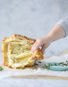 roasted garlic parmesan herb pull-apart bread.