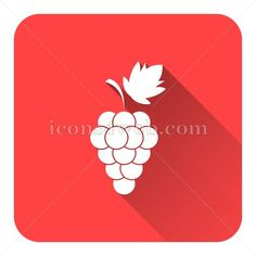 Grape flat icon with long shadow vector - graphic design icon Web Design Icon, Flat Design Icons, Food Fresh, Fresh Fruit, Vector Icons, Vector Free, Marketing Websites, Find Icons, Website Icons