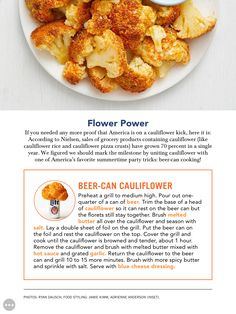 """""""Flower Power"""" from Food Network Magazine, June Read it on the Texture app-unlimited access to top magazines. Vegetable Side Dishes, Vegetable Recipes, Vegetarian Recipes, Roasted Califlower, Green Egg Recipes, Good Food, Yummy Food, Veggie Delight, Cauliflower Recipes"""