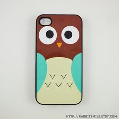 Brown/blue Owl iPhone 4 Case by rabbitsmile // I want this.i need an iphone first haha Owl Phone Cases, Ipod Cases, Ipad, Cute Cases, Iphone 4s, Just In Case, Diy Case, Weight Loss, Night Owl