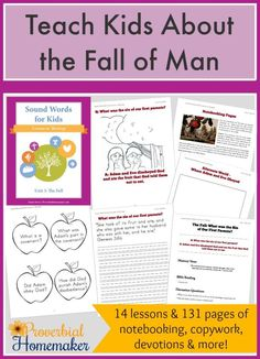 Teach Kids About the Fall of Man with Sound Words for Kids: Lessons in Theology (Unit 3).