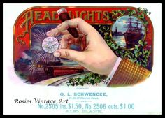 Headlights Vintage Cigar Box Label TruGiclee Print. $18.50, via Etsy.