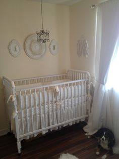 All-white shabby chic #nursery