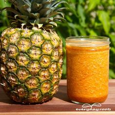 Gout Drink Remedy- with pineapple, tart cherry juice, turmeric & ground ginger.