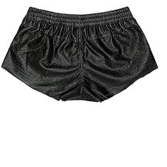 Blank Nyc Short (361709501) (650 NOK) ❤ liked on Polyvore featuring shorts, dark side, short shorts, cut out shorts, faux leather shorts, pull on shorts and blanknyc