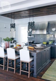 kitchen - modern nautical-style cottage - Style At Home
