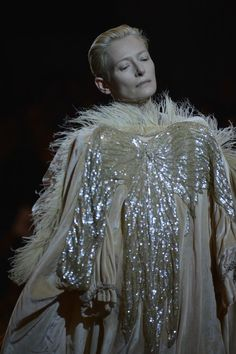 The Impossible Wardrobe, a performance piece at Palais De Tokyo featuring Tilda Swinton wearing the museum's most precious acquisitions (Thanks Vicen!)