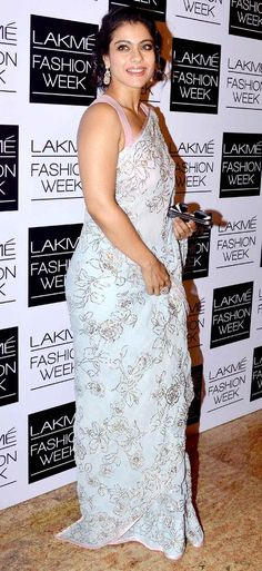 Kajol at the Lakme Fashion Week 2013 . simple n sweet.