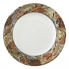 A fall motif – in warm hues of rust, brown, beige and gray – decorates this Corelle plate. Woodland Leaves is part of the Corelle Impressions collection. It's break resistant, easy to use and easy to clean  - http://kitchen-dining.bestselleroutlet.net/product-review-for-corelle-impressions-woodland-leaves-8-12-lunch-plate-set-of-4/
