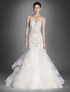Lazaro 3553, $1,950 Size: 12 | Sample Wedding Dresses