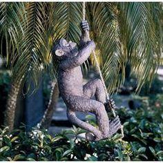 Classic Garden Decor – XoticBrands Home Decor Unique Garden Decor, Unique Gardens, Garden Statues, Garden Sculpture, Monkey Statue, Classic Garden, Tropical Forest, Predator, Climbing