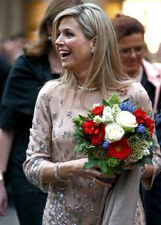 ♥•✿•QueenMaxima•✿•♥... April 13, 2016... King Willem Alexander and Queen Maxima visit Munich