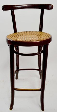 For Sale on - Pair of J J Kohn and Mundus bentwood stools made in Czechoslovakia, in the Vienna Secessionist style, after Thonet. These stools were originally found Kitchen Island With Seating, Vanity Bench, Bar Stools, Counter, Villa, Chairs, Table, How To Make, House