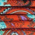 Cordon coton tubulaire 6 mm Rouille/Mint/Aqua x 1 m